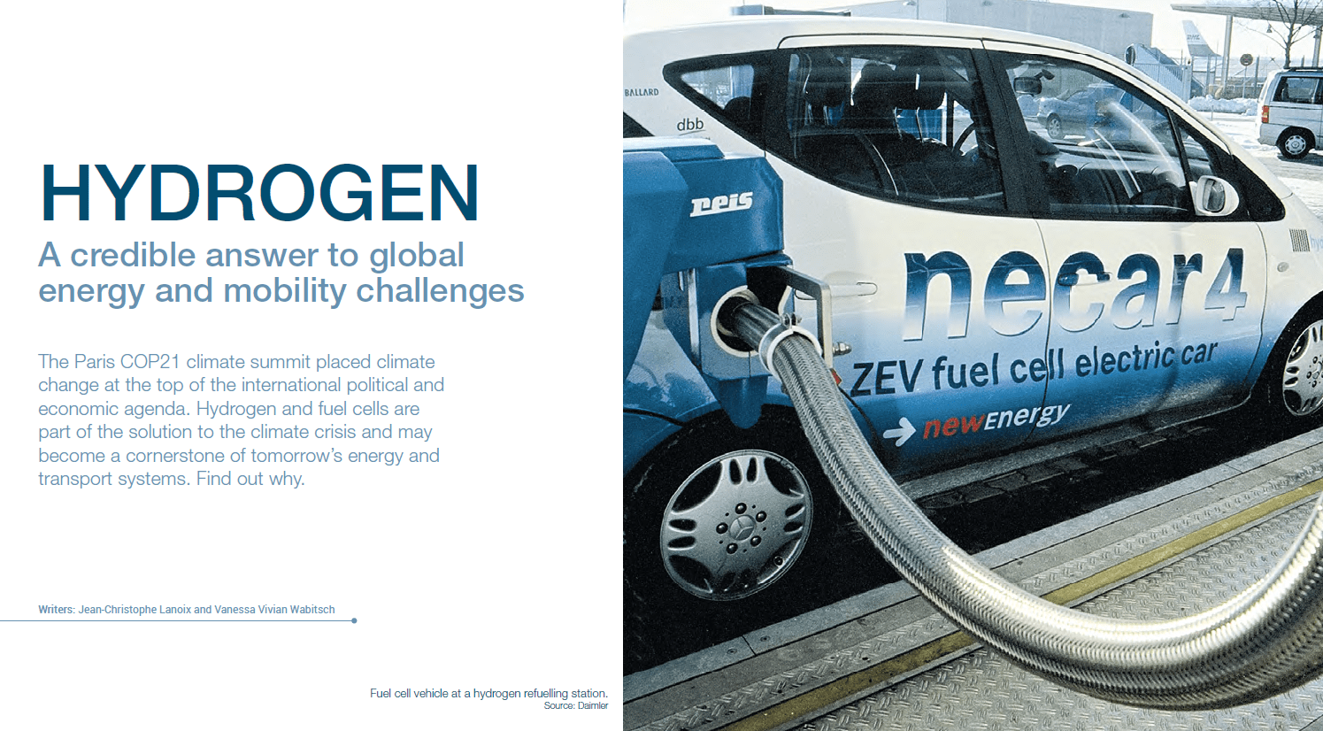 Hydrogen Is A Credible Answer To Global Energy And Mobility Challenges