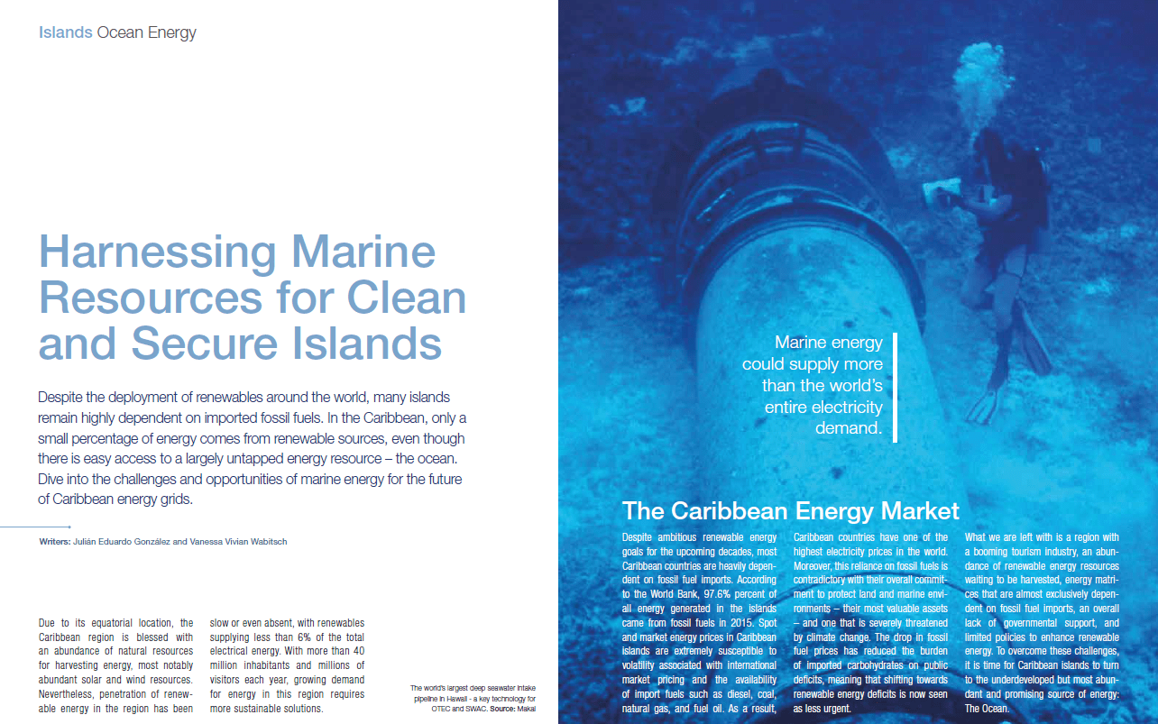 Harnessing Marine Resources For Clean And Secure Islands